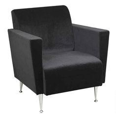 Memphis Velvet Club Chair, WK4221 by Adesso by Adesso   BizChair.com
