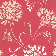 Dl Accent Agapanthus Wallpaper - contemporary - wallpaper - by Brewster Home Fashions