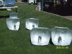 """Simple Solar Panel Cookers for $5.00 worth of material using darkened canning jars to cook """"hard baked"""" eggs. We fabricated 30 of these cookers for the class participants."""