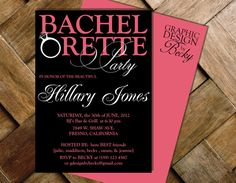 BACHELORETTE  Printable Bachelorette Party by GraphicDesignbyBecky, $16.00