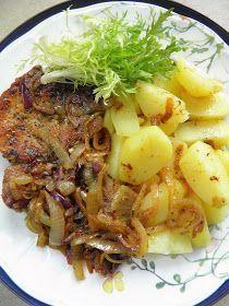 Schabowy przygotowany nieco inaczej - bez panierki, ze sporą ilością ziół, z czosnkiem i cebulką. Bardzo pyszny i w sumie szybki - mięso rob... Pork Recipes, Cooking Recipes, Polish Recipes, Cabbage, Food And Drink, Tasty, Beef, Homemade, Meals