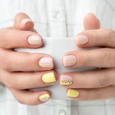 Cute Gel Nails, Chic Nails, Stylish Nails, Swag Nails, Short Gel Nails, Short Natural Nails, Natural Gel Nails, Natural Nail Polish, Nagellack Design