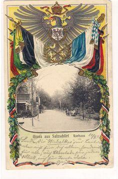 Kurhaus  1902 mit Kaiserwappen