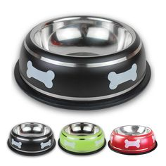 Stainless Steel Bone Printed Travel Feeding Drinking Puppy Dog Cat Bowl by Pretty Pet! Pet Supplies for Dogs and Cats. Portable Pet Feeder and Water Dispenser. Let your Pet eat with a real comfort! Dog Feeding Bowls, Cat Feeding, Dog Food Bowls, Pet Bowls, Stainless Steel Dog Bowls, Dog Bag, Pet Feeder, Puppy Food, Dog Food Recipes