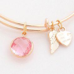 October Birthstone Wire Bangle Stackable Bracelet
