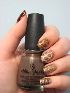 Safari themed nails