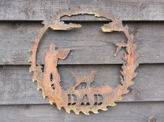Hey, I found this really awesome Etsy listing at https://www.etsy.com/uk/listing/492068555/gamekeeper-saw-blade-rusty-metal-art