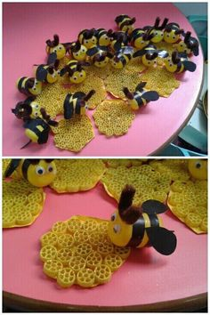 Mini Beasts Learning Links Ladybirds and Bees Material: Ombre 20381 yumak), Waltz 86843 yumak), peru c… in 2020 Diy And Crafts, Arts And Crafts, Paper Crafts, Bee Crafts For Kids, Draw A Hexagon, Bee Activities, Diy Décoration, Spring Crafts, Preschool Crafts