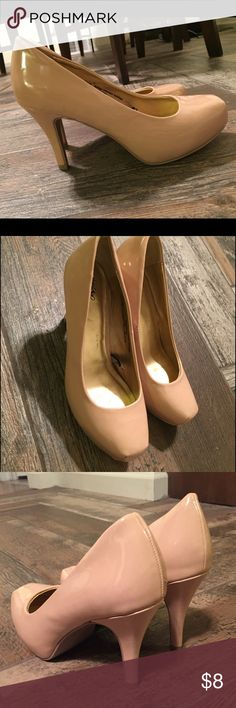 Nude Pumps Mossimo nude colored pumps 👠; square toe. Size 6. Worn once for a wedding. Mossimo Supply Co. Shoes Heels