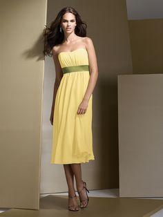 Dessy Bridesmaid Style 2721- buttercup & citron