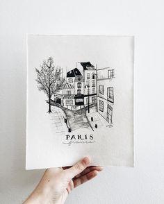 Paris, France illustration | Sea of Atlas