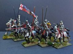 Edward IV & heavy cavalry Wars of the Roses 1461; 28mm Plastic figure