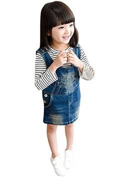 ASHERANGEL Little Girls Toddler Denim Overall Dress Skirtall Jumper * You can get additional details at the image link. We are a participant in the Amazon Services LLC Associates Program, an affiliate advertising program designed to provide a means for us to earn fees by linking to Amazon.com and affiliated sites.