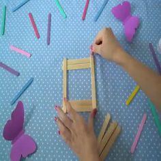 Diy Room Decor Videos, Diy Crafts For Home Decor, Diy Crafts Hacks, Diy Crafts For Gifts, Diy Arts And Crafts, Craft Stick Crafts, Creative Crafts, Fun Crafts, Crafts For Kids