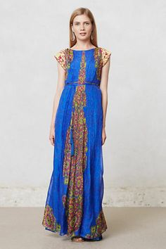 New Anthropologie Apsara Maxi Dress By Hemant & Nandita Size 4 No Slip