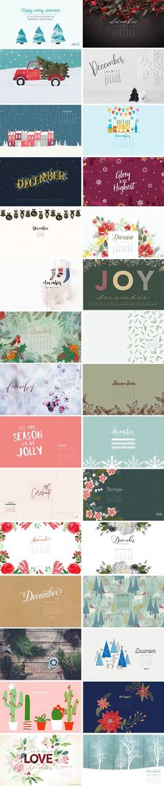 Oh man....how is it already December? I can't believe we are almost at the tail end of 2017! I hope you've all had an amazing year, and wish you a fantastic 2018. I hope you enjoy the final desktop wallpapers roundup of the year :-) 1. Seikritt Design  |  2. Loose Leaf Creative 3. Home…