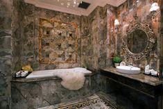 brown Bathroom Decor Bathroom with luxury tile brown theme Brown Bathroom Mirrors, Brown Bathroom Paint, Brown Modern Bathrooms, Brown Bathroom Decor, Bathroom Accents, Bathroom Accessories Uk, Brown Walls, Bath Design, Bathroom Flooring
