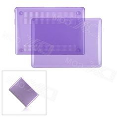 Protective Frosting Pc Front & Back Case for Apple MacBook Pro 13.3 Laptop - Transparent Purple