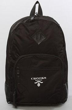 Crooks and Castles The Praadigy Backpack in Black Crooks and Castles. $89.99