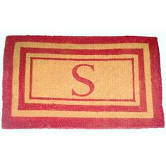 "Geo Crafts Monogram Doormat Size: 30"" x 48"", Letter: L"