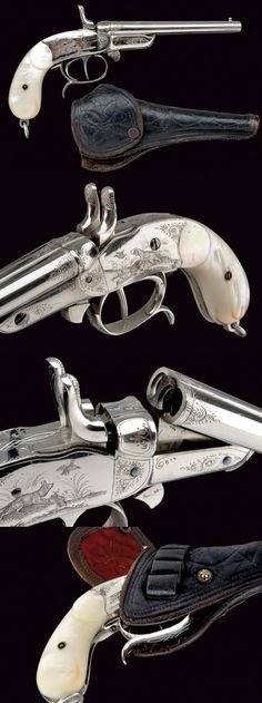 A beautiful double-barreled center-fire pistol, provenance: France dating: third quarter of the 19th Century.