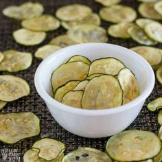 Oven Baked Zucchini Chips Recipe (Paleo, Low Carb, Keto) Baked Cucumber Chips with Salt & Vinegar Flavor