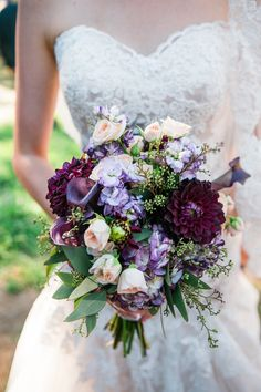 The plums are my favorite! View the full wedding here: http://thedailywedding.com/2015/12/21/beautiful-garden-and-redwoods-wedding-sabrina-jeremy/