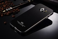 KXX Ultra Thin Aluminum Bumper Back Shell Full Metal Protective Case for Samsung Galaxy S6 G9200 G9208