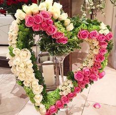 Traumhaft schön. Danke Daizo. - #daizo #danke #schon #traumhaft Funeral Floral Arrangements, Flower Arrangements, Wedding Wreaths, Wedding Flowers, Flower Decorations, Wedding Decorations, Memorial Flowers, Cemetery Flowers, Sympathy Flowers
