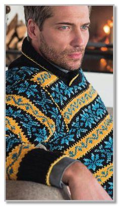 Пуловер с жаккардовыми многоцветными орнаментами.. Обсуждение на LiveInternet - Российский Сервис Онлайн-Дневников