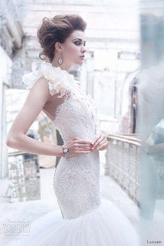 lazaro bridal 2014 | Lazaro wedding gowns Fall 2012 collection bridal photo shoot. Gorgeous gown!!!!