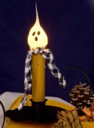 Welcome Lamp with Ghost $19.00. Inner Bulb Is Replaceable. Item# 01-3000 ($2.00)