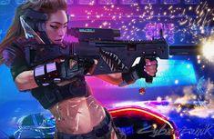 Cyberpunk girl by Petri Rahkola   Sci-Fi   2D   CGSociety