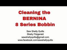 Cleaning thread from the BERNINA 8 series bobbin