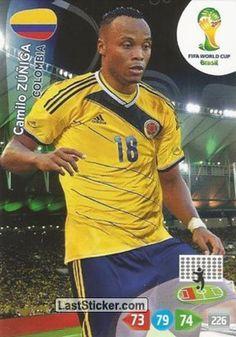 Card 79: Camilo Zúñiga - Panini FIFA World Cup Brazil 2014. Adrenalyn XL - laststicker.com