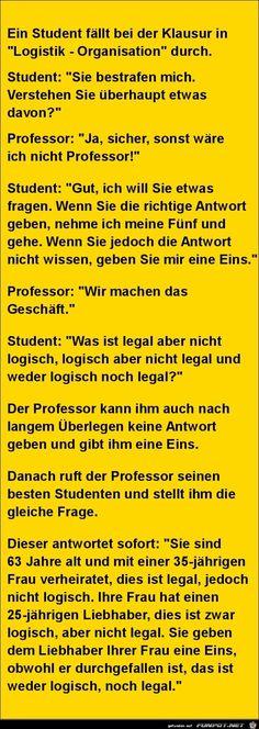 lustiges Bild 'Student und Professor.....jpg'- Eine von 27353 Dateien in der Kategorie 'klasse Sprüche und Witze' auf FUNPOT.
