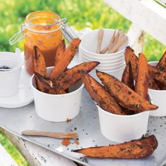 Sweet potato wedges with pineapple ketchup