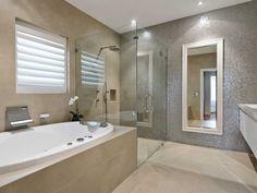 Stritt Design & Construction | Pittwater Residence Southern California Style, Lush Garden, Spanish Colonial, Cabana, Corner Bathtub, Powder Room, Construction, Contemporary, Bathroom