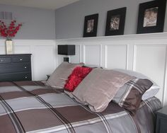 Wainscoting ideas with picture ledge