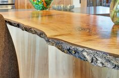 Natural Wood Bar Top Design Ideas, Pictures, Remodel, and Decor