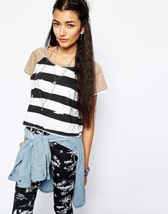 Your Eyes Lie Stripe Crop Top