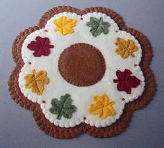autumn leaf felt mat inspiration