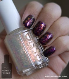 Essie Shine of the Times - opal glitter in a pale, sheer golden base.