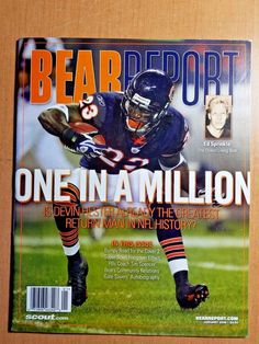 2f49dce14 2008 BEAR REPORT magazine DEVIN HESTER Chicago Bears - NO MAILING LABEL # ChicagoBears