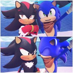 Shadow The Hedgehog, Sonic The Hedgehog, Lgbt Anime, Cartoon Ships, Sonic Heroes, Sonic And Shadow, Sonic Fan Art, Kawaii, Cute Drawings