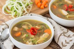 chicken noodle soup. Kick it up a notch with the addition of soy ...