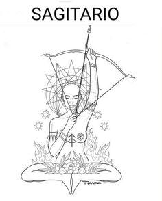 Sexy Tattoos, Body Art Tattoos, Cool Tattoos, Sagittarius Tattoo Designs, Capricorn Tattoo, Couple Tat, Chakra Tattoo, Zodiac Art, Coloring Book Pages