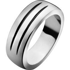 Groove - Sterling Silver mens ring by George Jensen.  212 EURO's   (Designer: Philip Bro Ludvigsen, Denmark.)
