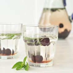 cherry basil infused water