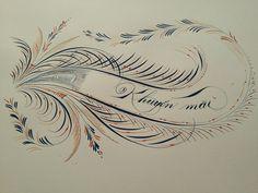 Calligraphy Lessons, Calligraphy N, Pretty Handwriting, Penmanship, Cursive, Ink Art, Flourish, Genealogy, Typography